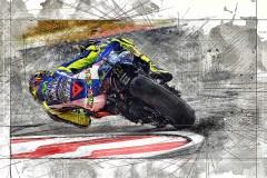 Motorrijder-Rossi